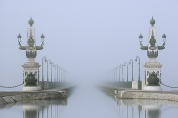 Poster Channel pont canal briare brume