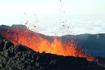 Deurstickers Vulkaan volcan 18