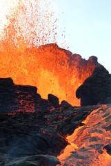 Deurstickers Vulkaan volcan 15
