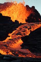Deurstickers Vulkaan volcan 12