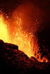 Deurstickers Vulkaan volcan 10