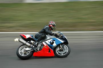 fast racing motorbike