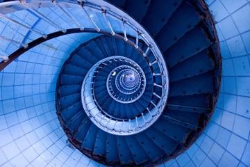 Foto op Canvas Spiraal escalier de phare