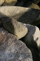light on rocks