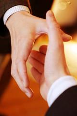 commercial handshaking between two hands