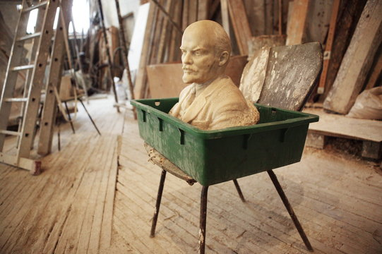 marble bust of lenin