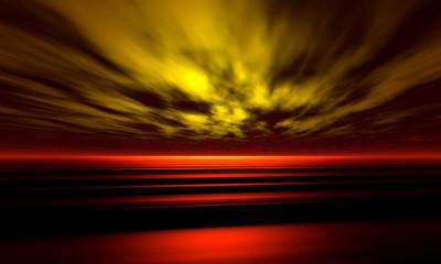 Fotobehang - sunset background