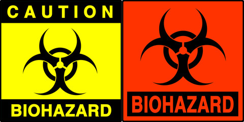 biohazard warning series