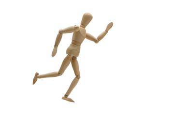 running mannequin side