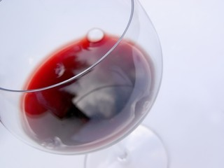 close up of red wine