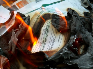 documents in fire - 2