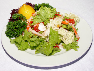 salad with vegetable and crab