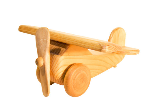 old wooden airplane toy
