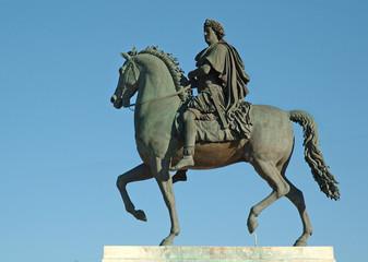 statue équestre du roi louis xiv