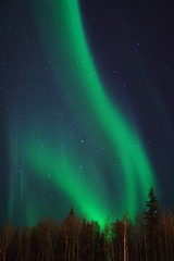 aurora letters in the sky - v