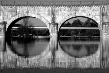 reflet du pont