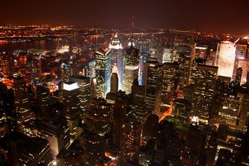new york city (nyc) stadtübersicht manhatten nacht