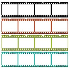 slides of 35mm film in different colors