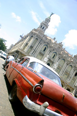 Garden Poster Cars from Cuba habana vieja