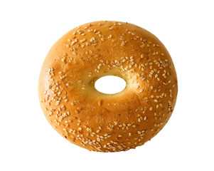 bagel with sesame seeds
