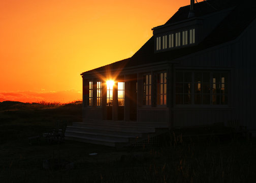 vacation home sunset
