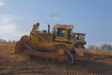 dozer working on hillside