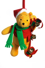 christmas teddy.