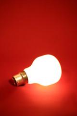 ampoule opaque allumée