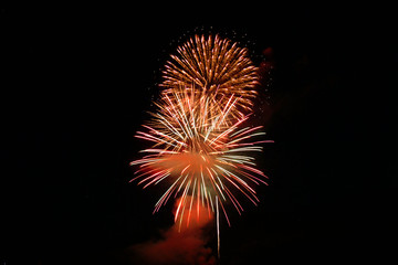 fireworks in orange