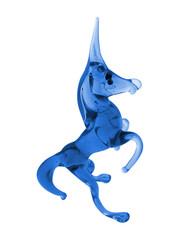 blue glass unicorn