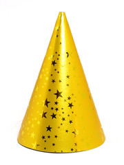 yellow party hat