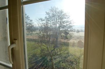 fenêtre sur campagne