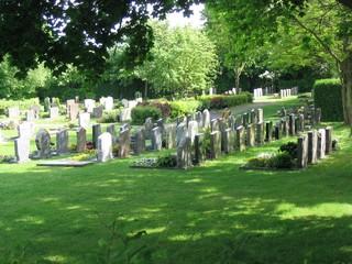 Tuinposter Begraafplaats cemetery