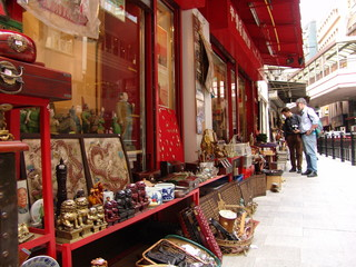 antique selling street in hong kong