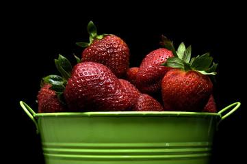 food - strawberry pail