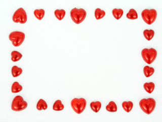 frame of heart shapes