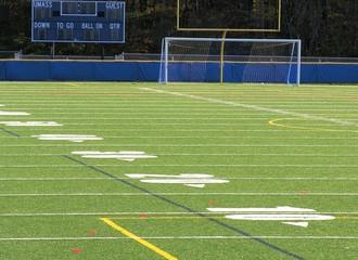 empty football field.