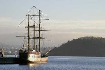 tall ship in the oslo fjord
