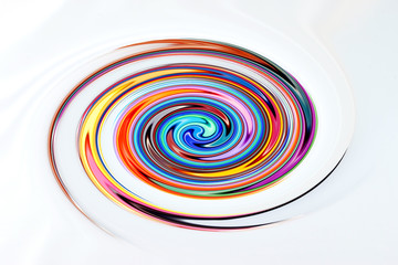 colorful abstract swirling vortex