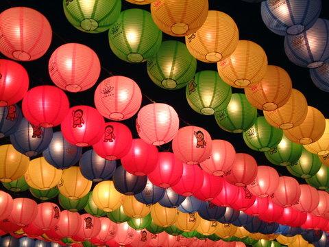 paper lanterns, jogyesa temple