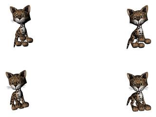 leopard kitties - copy space