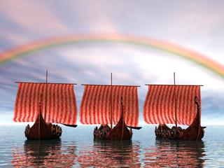 vikings a'sailin