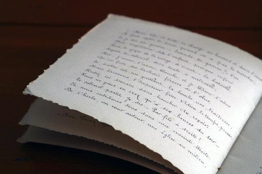 cahier manuscrit 3