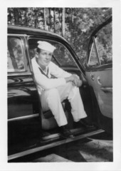 vintage 1940's photo of sailor
