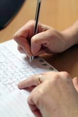 feuille d'écriture