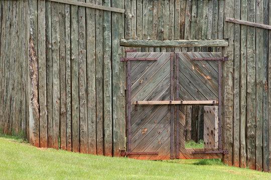 close up on civil war stockade