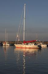 luxury yacht in harbour