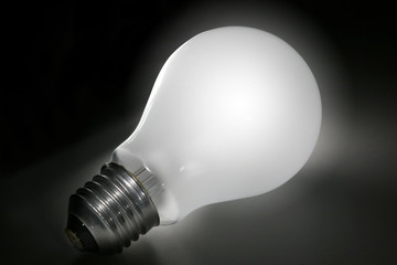 lightbulb with path