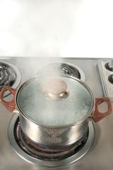 steaming pot