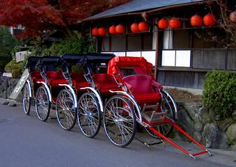 line of rickshaws